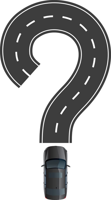 Road And Car Are Question Mark